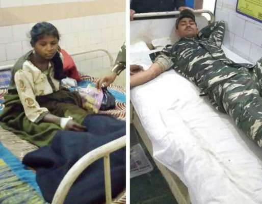 सीआरपीएफ जवानों ने बचाई महिला नक्सली की जान