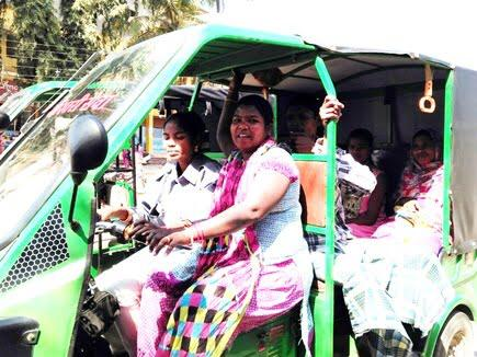 bastar women driving e-rikshaw, bastar, naxal hit area, naxal