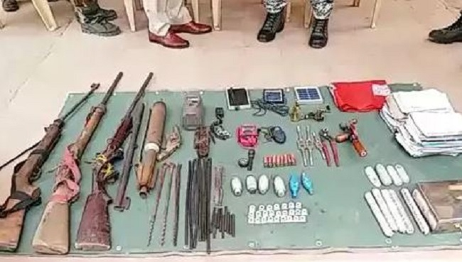 police seized weapons, police seized weapons naxals, police seized naxals weapons, Naxals