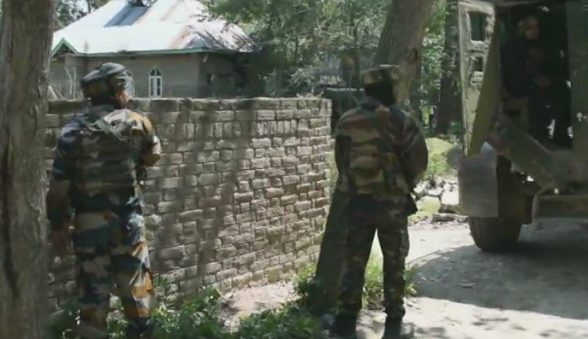 Jammu and kashmir, encounter between militants and security forces at Braw Bandina in Awantipur, Braw Bandina in Awantipur, Awantipur, pulwama, sirf sach, sirfsach.in
