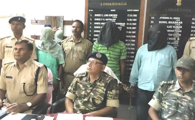 lohardagga,Police Arrested 3 Naxali Supporters in Lohardaga, 3 Naxali Supporters Arrested in Lohardaga, Lohardaga Police, Jharkhand Naxal, Lohardaga, Jharkhand, sirf sach, sirfsach.in
