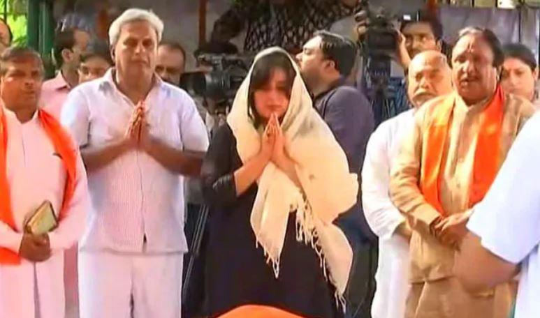 अलविदा सुषमा स्वराज! बेटी बांसुरी ने पूरी की अंतिम संस्कार की रस्म