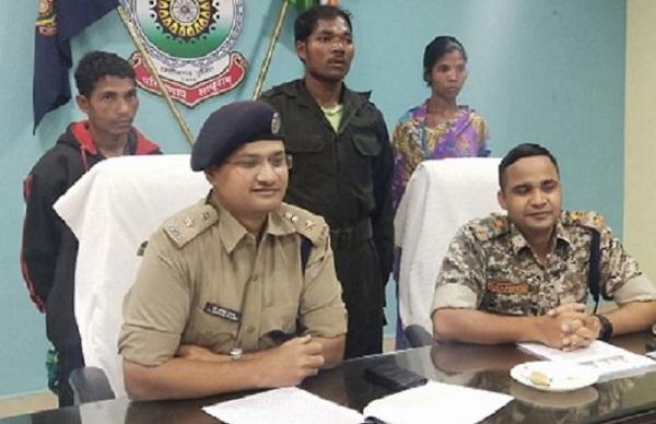डीएम और एसपी की हत्या की रची थी साजिश, सुरक्षाबलों ने 3 नक्सलियों को दबोचा